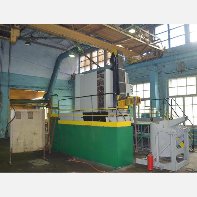 Установка электрошлакового центробежного литья (ЭШП) КТМЭЛ 1/500 ЦМВ-2 в процессе сборки и наладки